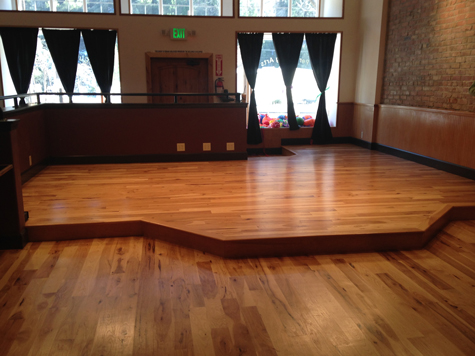 The stage area at Dunsmuir's Pops Performing Arts and Cultural Center