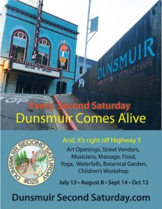 Dunsmuir-Second-Saturday-Flyer-DUNSMUIR-july-optimized